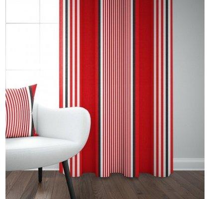 rideau rouge et blanc jean vier. Black Bedroom Furniture Sets. Home Design Ideas