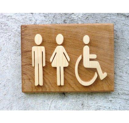 Pictogramme wc handicap for Porte wc pmr