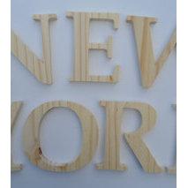 Lettres en bois brut on