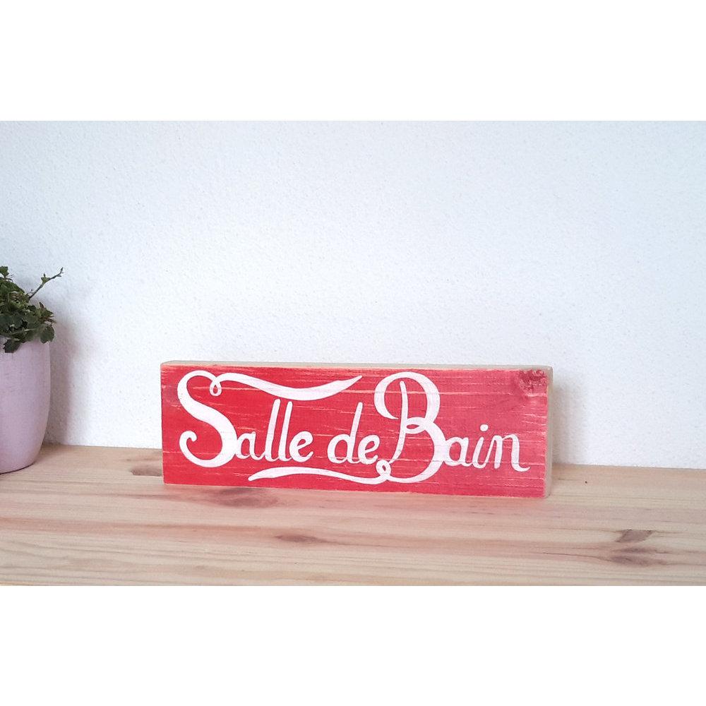 Decoration Salle De Bain Rouge Et Blanc ~ pancarte