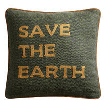 Coussin avec texte Save the earth