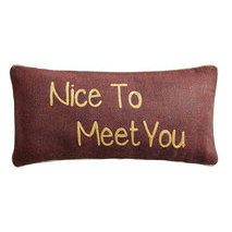"Coussin message ""Nice to meet you"""