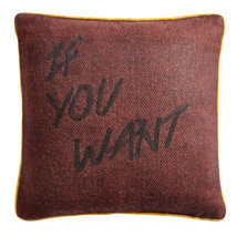 "Coussin message ""If you want"""