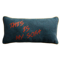 "Coussin message ""This is my sofa"""