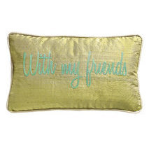 "Coussin message ""With my friends"""