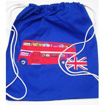 Tote bag enfant bus rouge