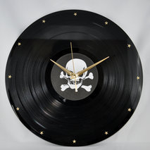 horloges disque vinyle originales design. Black Bedroom Furniture Sets. Home Design Ideas