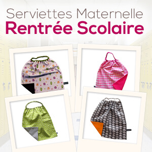 serviette de table maternelle