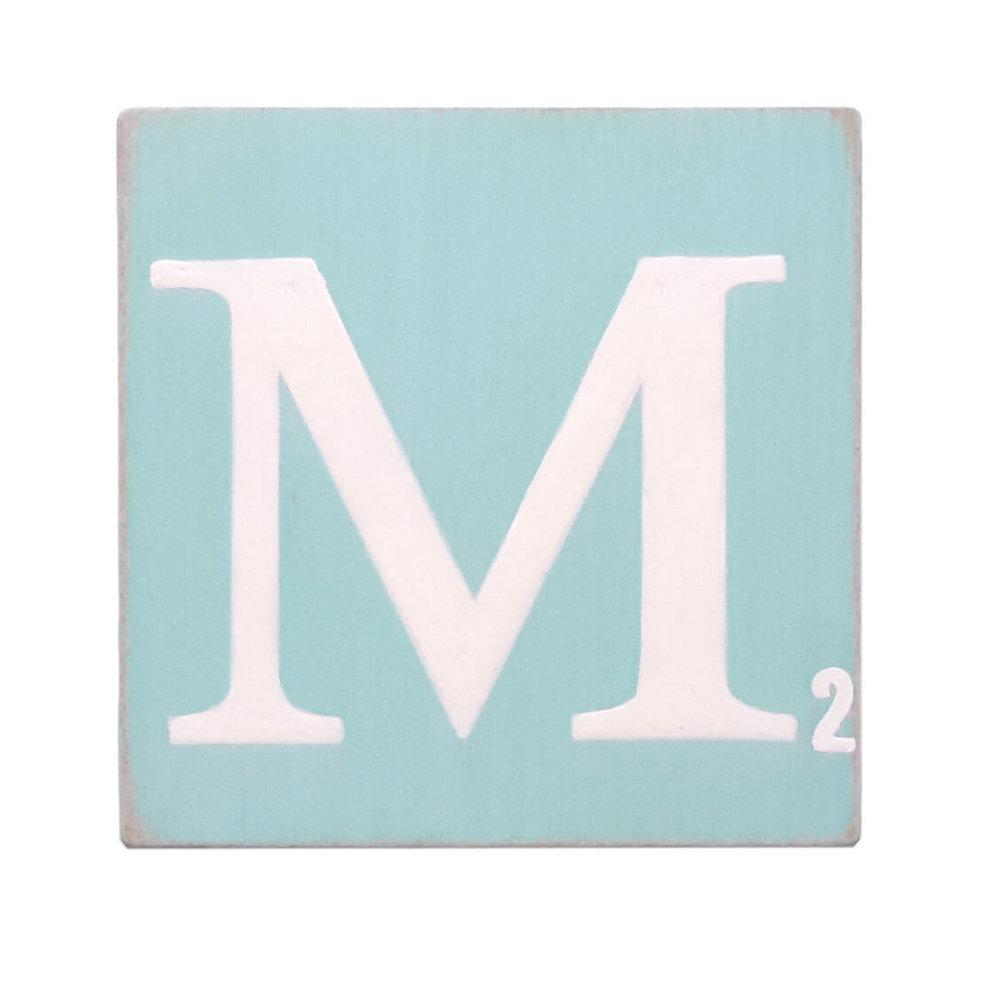 Lettre 15 cm turquoise