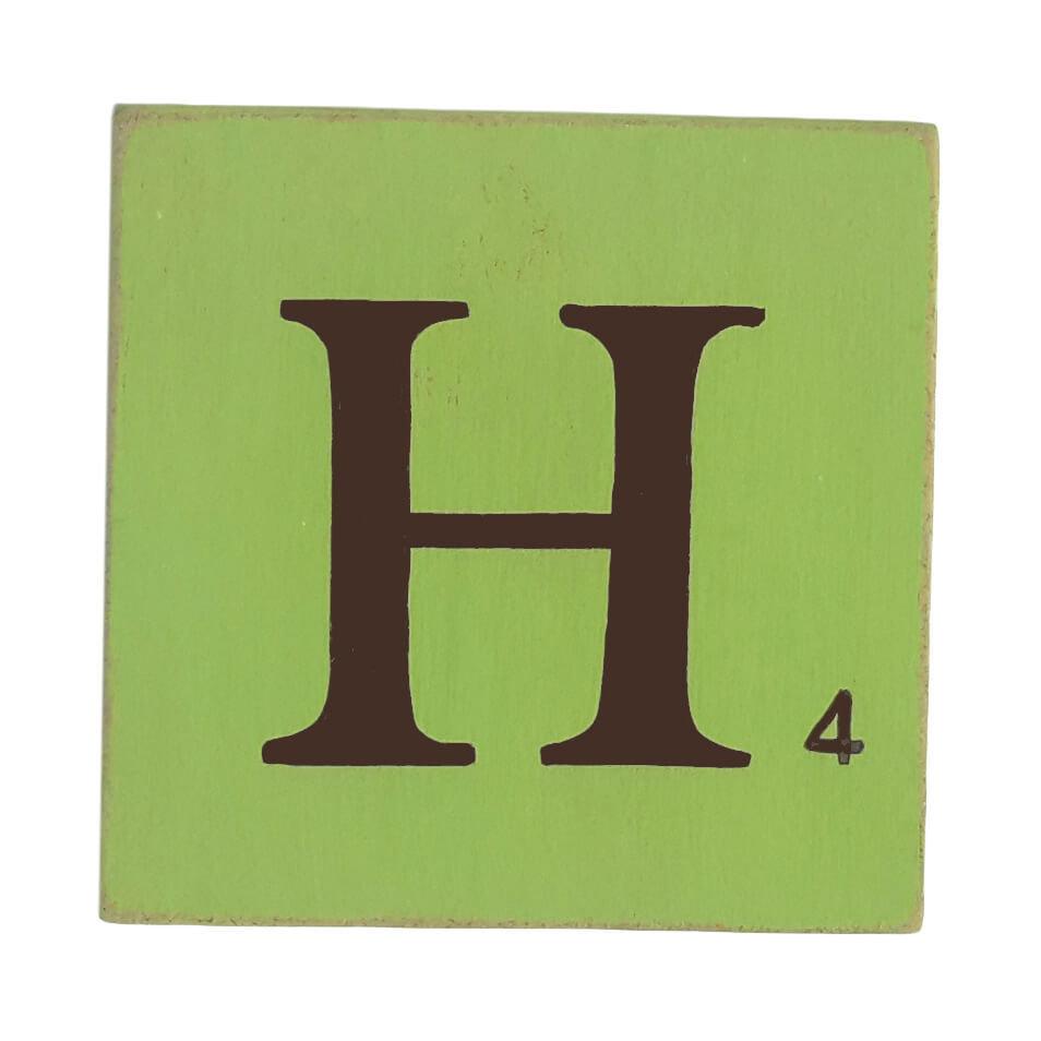 Chambre Chocolat Et Vert Anis lettre 25 cm vert anis marron