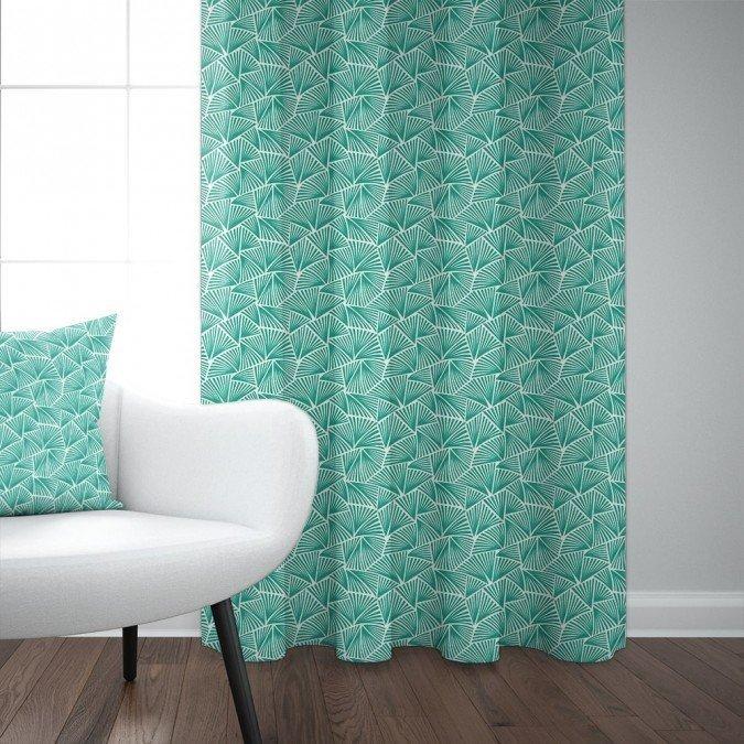 Création De Rideaux Originaux rideau vert en lin
