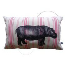 coussin hippopotame rose