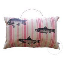 coussin rose Poissons