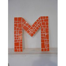 lettre deco 12 cm orange