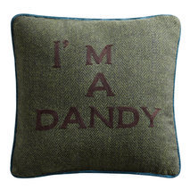 "Coussin message ""I am a Dandy"""