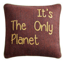 "Coussin message ""It's the only planet"""
