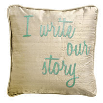 Coussin I write our story