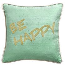 Coussin message Be happy