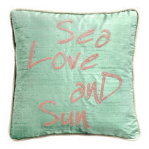 "Coussin ""Sea Love and Sun"""