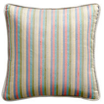 Coussin rayures multicolores