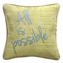 "Coussin message ""All is possible"""