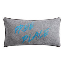 "Coussin message ""Free place"""