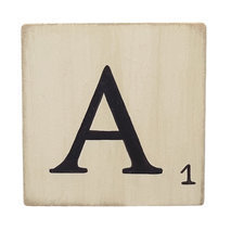 Lettre En Bois Peinte Scrabble