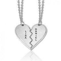 Collier best friends coeur
