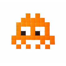 Mosaique Invader verre outdoor orange
