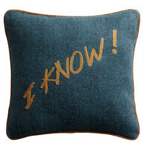 Coussin message I Know